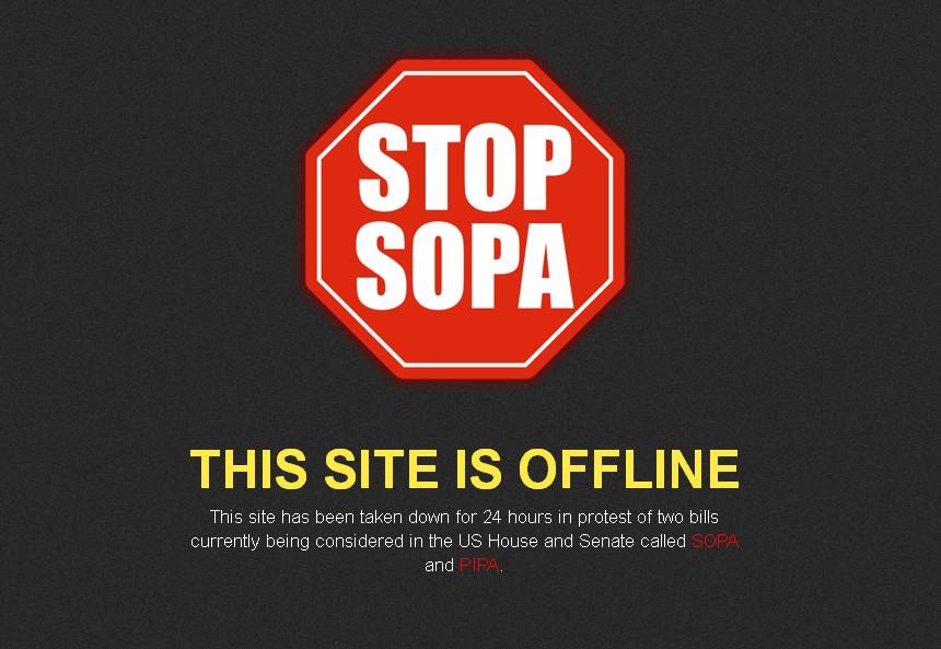 Foros Vanilla huelga anti-SOPA